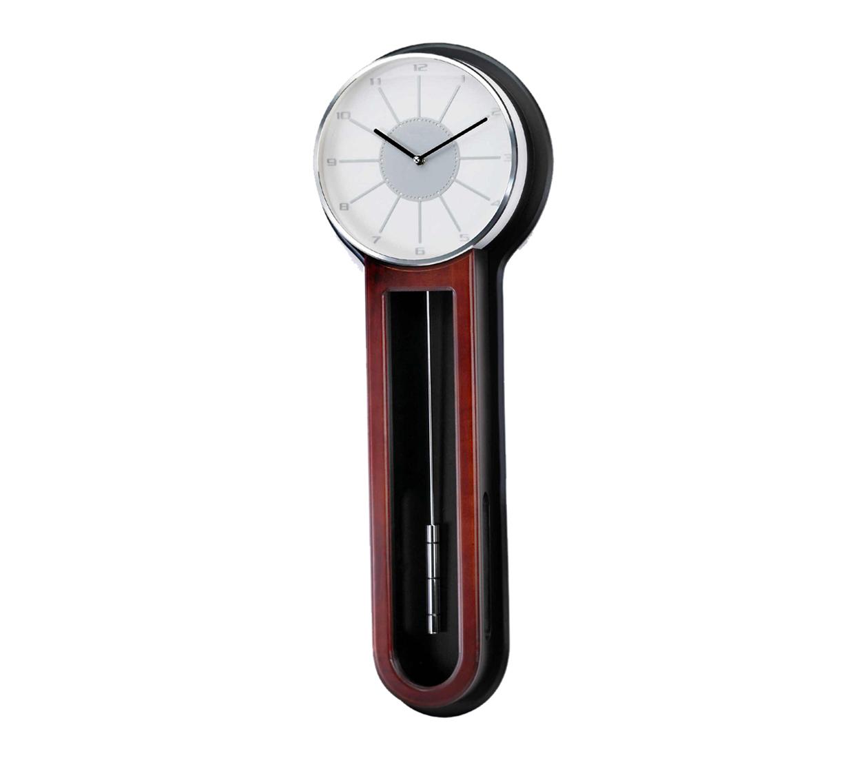 Reloj de pared con pendulo maquinaria seiko madera - Reloj decorativo de pared ...