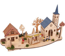 casita madera ciudad